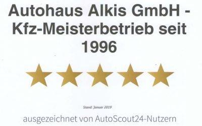 Autohaus Alkis zum zweiten mal in Folge als Top Händler ausgezeichnet