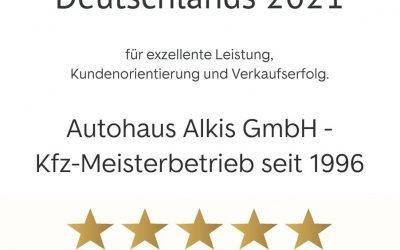 Autohaus Alkis jetzt schon zum vierten mal in Folge als Top Händler ausgezeichnet